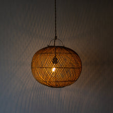 Load image into Gallery viewer, Handwoven Rattan Ball Pendant Light | Simple and Natural Lamp Boho
