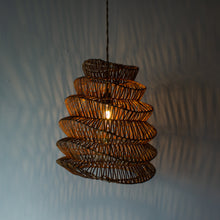 Load image into Gallery viewer, Handwoven Rattan Large Boho Pendant Light | Simple and Natural Lamp