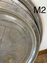 Load image into Gallery viewer, Vintage  about 1970 Large moroccan tray table aluminum 34""