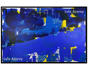INDUSTRIAL, Original Large Painting, 48x72, Abstract- Lula Azorey