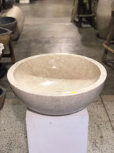 Load image into Gallery viewer, Large Natural Marble Vessel Sink | Smooth Finish Cream Color