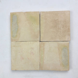 SAMPLE 9 pieces Large Zellige terra cotta Moroccan tile Natural Square - Not Glazed