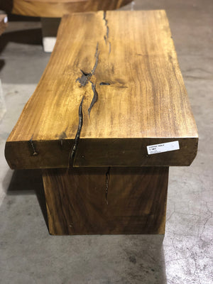 Rectangular Live Edge coffee table/ bench beautiful wood slab table, with live edge wood top and base