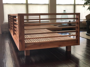 Solid teak wood L shape Patio  sofa