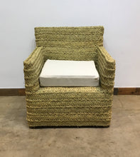 Load image into Gallery viewer, TX Only Two (2) African palm woven armchair one-of-a-kind