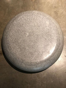 Gray Terrazzo round indoor outdoor coffee table low profile - Pebble Stone look