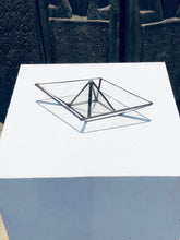 Load image into Gallery viewer, Stained clear glass 3D paper origami style sailing boat table top decoration Sculpture Tiffany technique - Small