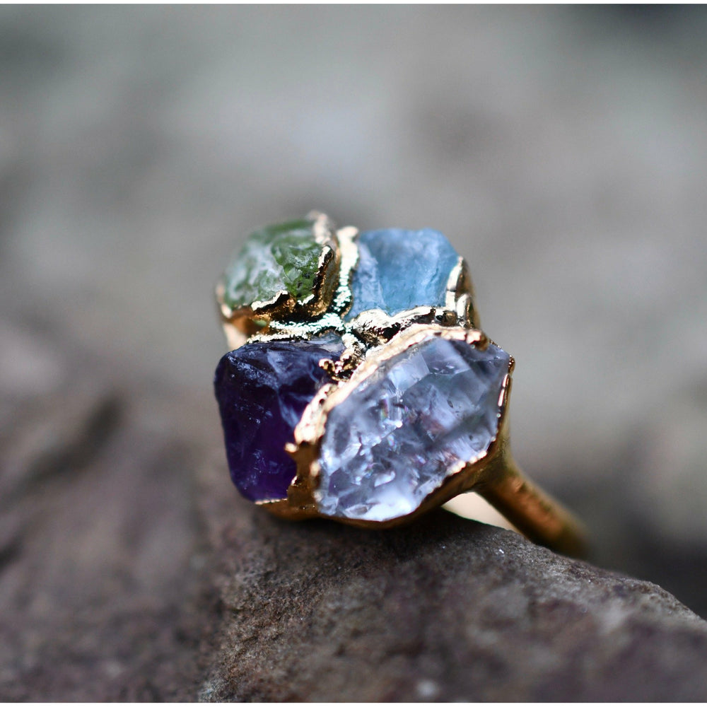 Custom Gemstone Rings in 999 Fine Silver