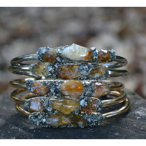 Citrine Bracelet- November Birthstone Jewelry- Gold or Silver