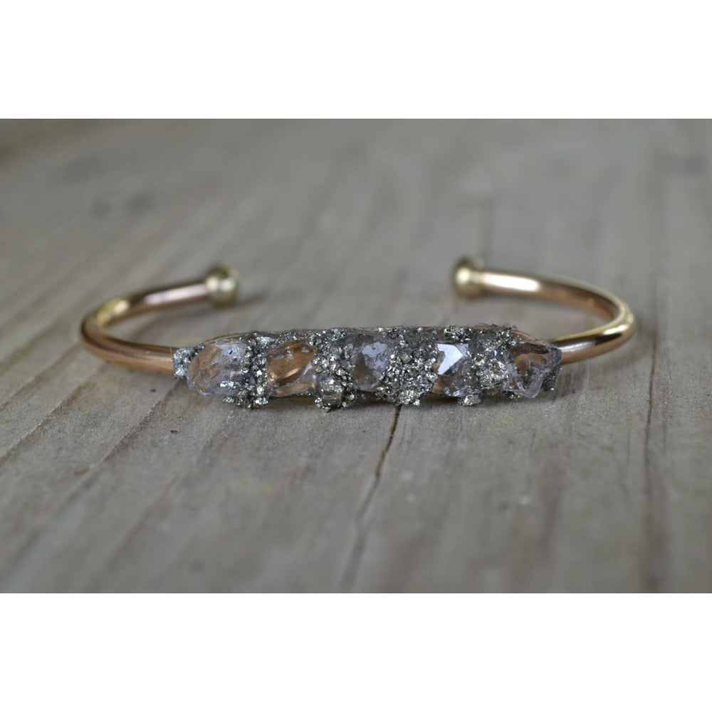 Herkimer Diamond Bracelet, Herkimer Diamond Jewelry, April Birthstone Bracelet