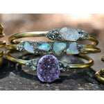 Raw Birthstone Bracelets for Women, Amethyst, Garnet, Citrine and More.