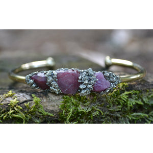 Raw Ruby Bracelet- July Birthstone