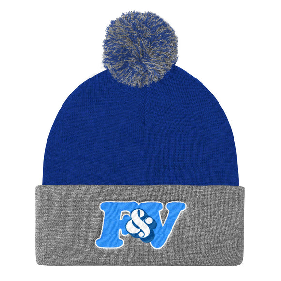 BLUE NIGHT Pom Pom Knit Cap (Toque)