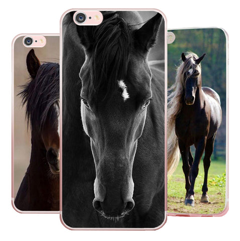 best sneakers 0eff0 23dc6 Apple iPhone Horse Theme Soft Case Cover fits 4 4s 5 5S SE 5C 6 6S ...