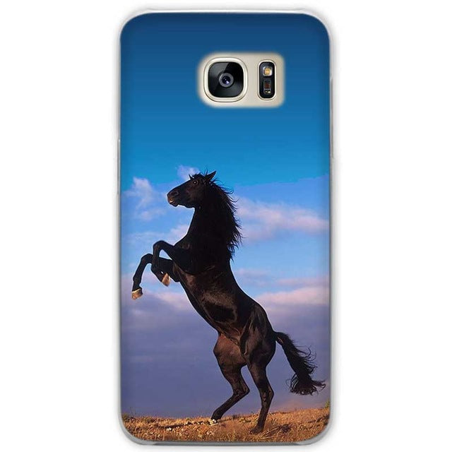 huge discount 51e24 17c18 Samsung Galaxy Power Horse Clear Hard Phone Case Covers for Samsung Galaxy  S3 S4 S5 Mini S6 S7 S8 Edge Plus