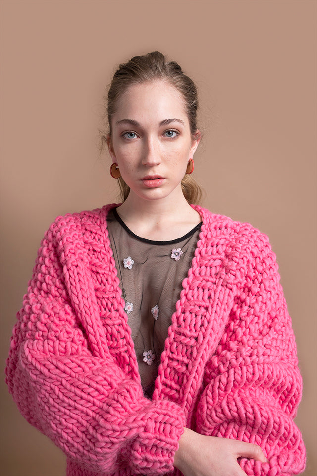 BUBBLEGUM CARDIGAN - This Is Mool