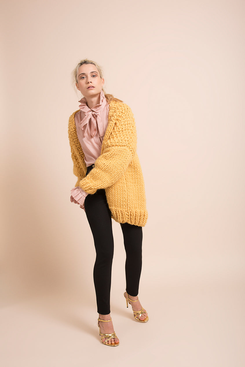 MUSTARD CARDIGAN - This Is Mool