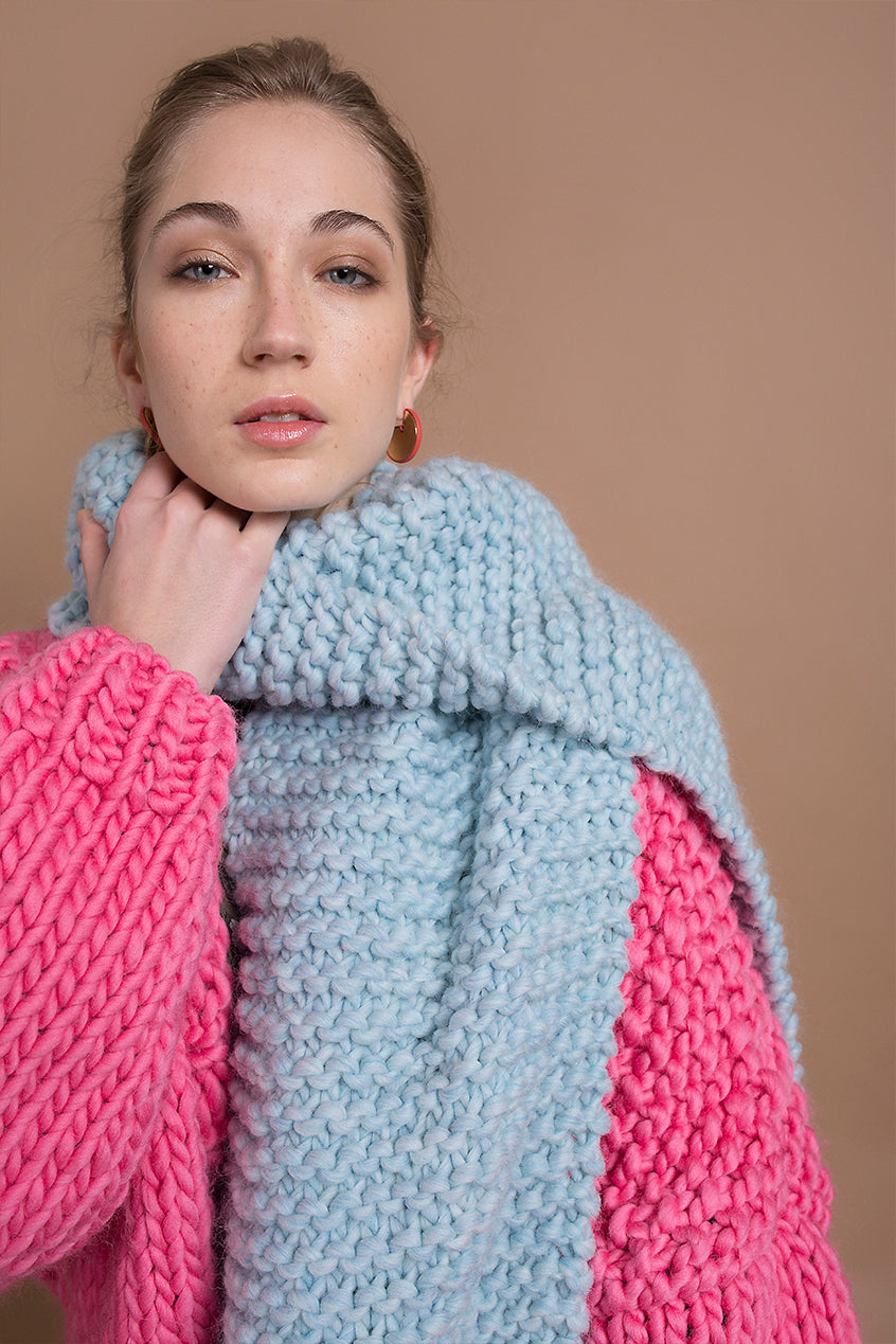 SKY BLUE SCARF - This Is Mool