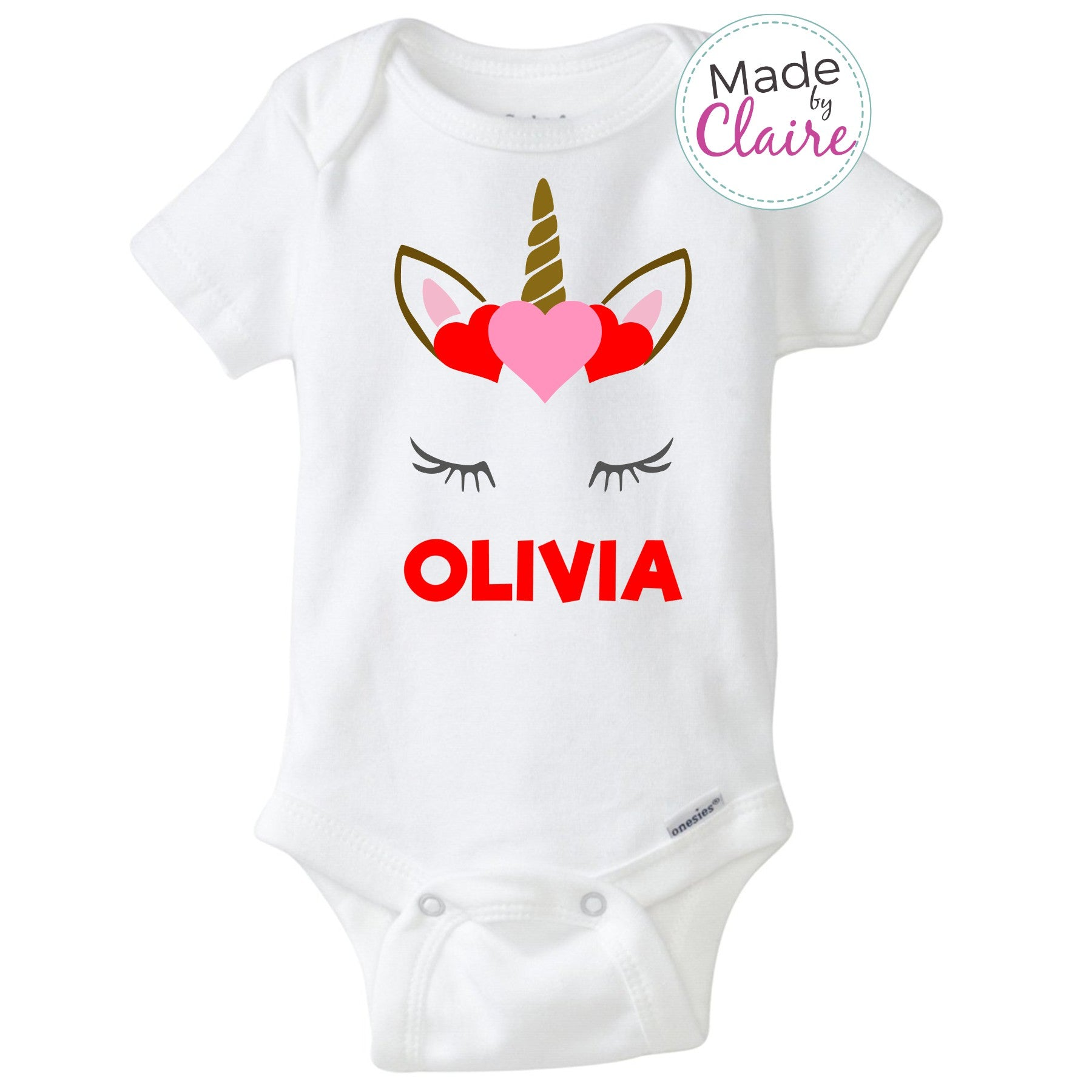 Personalized Unicorn Valentine S Day Shirt Made By Claire