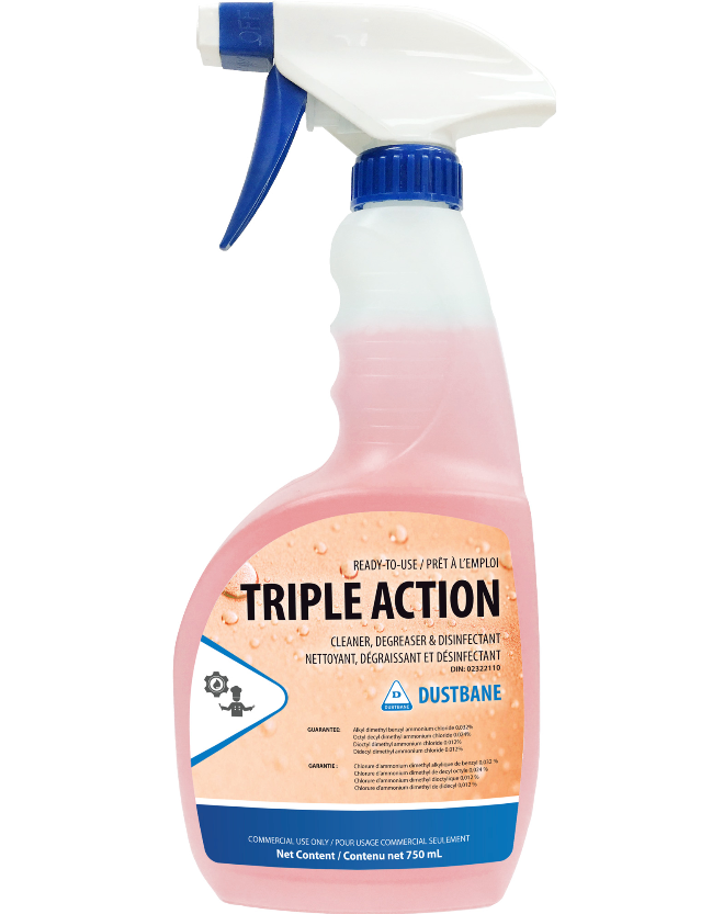 Triple Action - Cleaner, Degreaser, and Disinfectant (750mL)