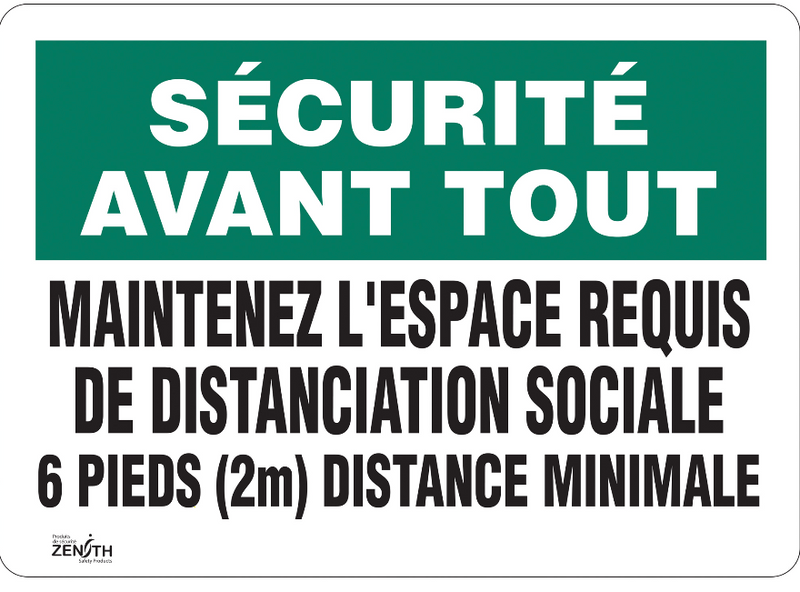 """Distanciation Sociale"" Sign"