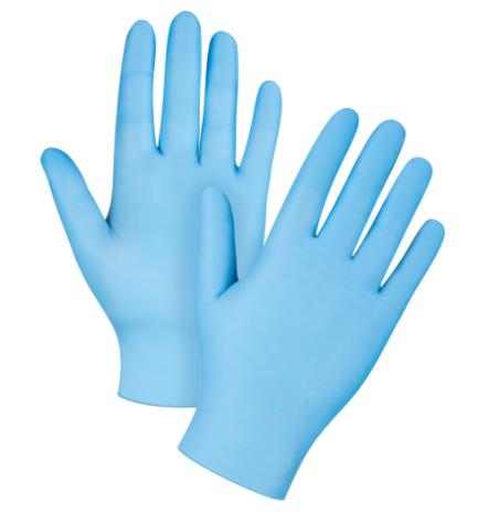 Industrial Nitrile Gloves 4.5-Mil - Small (100/box)
