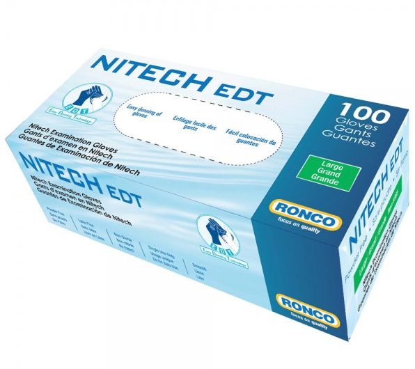 NITECH EDT® Examination Gloves 5-Mil - Medium (100/box)