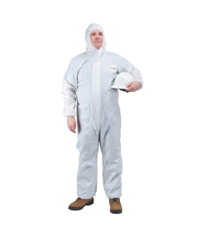 Protective Hooded Coveralls White - Small (25/cs)