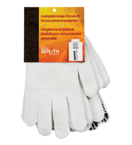 Dotted Gloves Single Sided CFIA Accepted - X-Large (3-Pack)