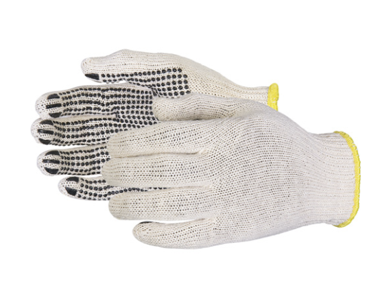 Sure Grip® PVC-Dotted Economy Knit Gloves - Large