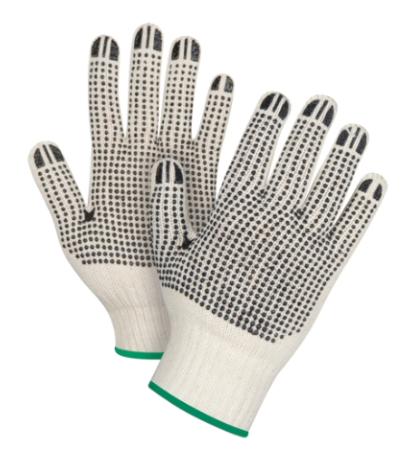 Dotted Gloves Double Sided CFIA Accepted - Medium