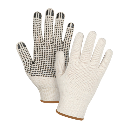 Dotted Gloves Single Sided - Large