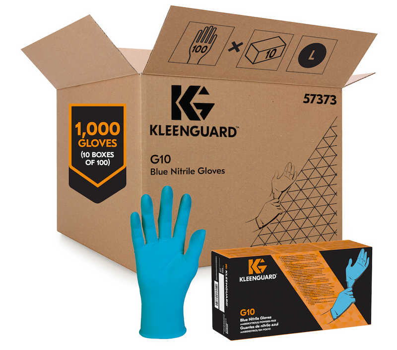 KleenGuard™ G10 Disposable Nitrile Gloves 6-Mil - Large (100/box)