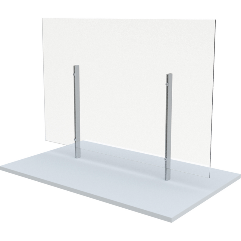 "Free Standing Board Mount Sneeze Guard 36"" x 36"""