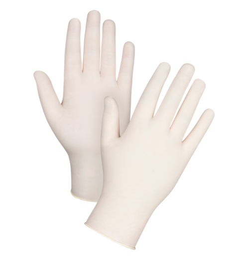 Disposable Latex Gloves Powder-Free 4-MIl - Large (100/box)