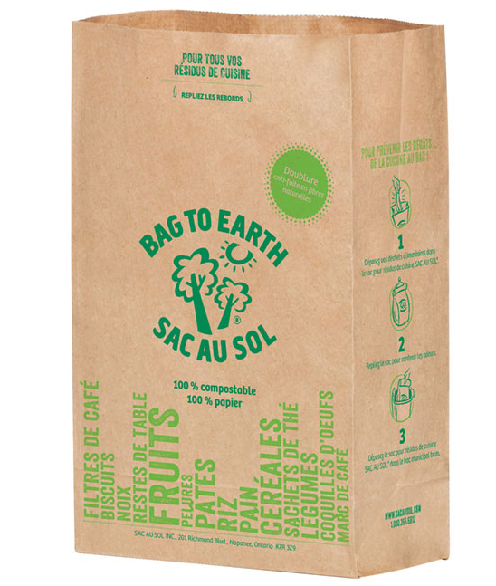 Bag to Earth Food Waste Paper Bags