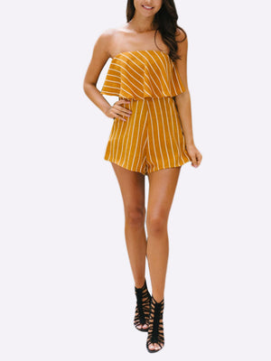 Bella Striped Playsuit