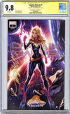 CGC 9.8 SS Captain Marvel #1 cover A J. Scott Campbell