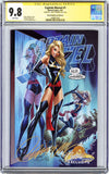 CGC 9.8 SS Captain Marvel #1 cover B J. Scott Campbell