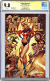 CGC 9.8 SS Captain Marvel #1 cover C J. Scott Campbell
