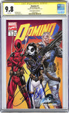 CGC 9.8 Signature Series Domino #1 cover B J. Scott Campbell