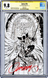 CGC 9.8 SS Spawn #300 cover N 'bw' JSC