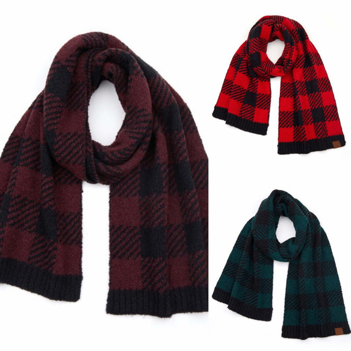 CC Buffalo Plaid Scarf 3 Colors!