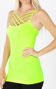 Triple Criss Cross Tank- MULTIPLE COLORS!
