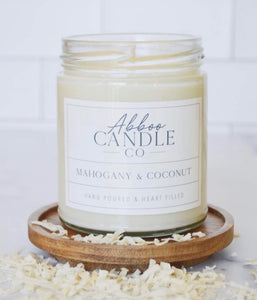 Mahogany and Coconut Candle