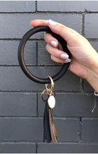 O-Key Rings- Wrapped Faux Leather