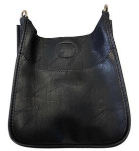 Messenger Bag Faux Leather Mini Black