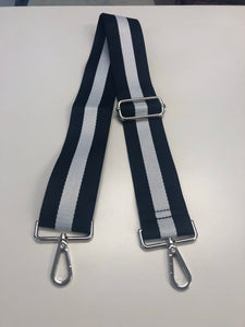 Navy & White Stripe Guitar Strap