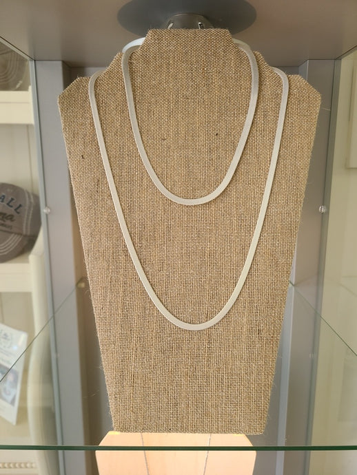 Herringbone Necklaces Silver and Gold- Multiple sizes