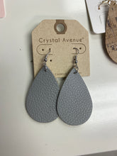 Teardrop faux leather earrings - 2 colors